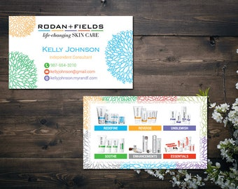PERSONALIZED Rodan and Fields Business Cards, Fast Personalized, Rodan + Fields Independent Consultant, Modern Business Cards RF14
