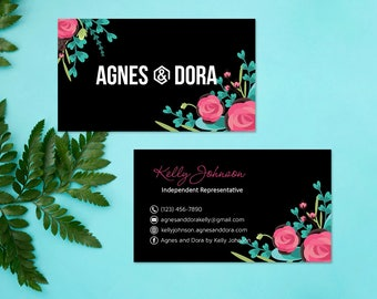 PERSONALIZED Agnes and Dora Business Card, Agnes and Dora Punch Card, Business Cards, Digital File AD02