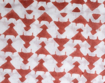 Tribal style hand block printed fabric