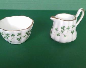 Royal Tara Miniature China Creamer and Sugar Bowl Galway  Ireland