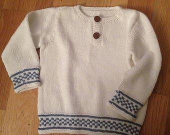 Lett og fin genser i bomull