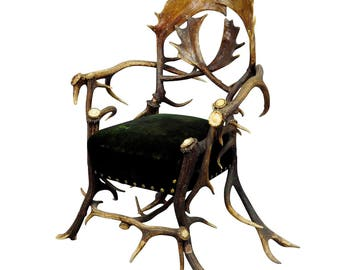 an great antique cabin antler armchair late 19th century