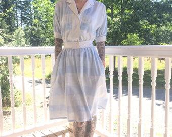 70s Lanz Originals Striped Sailor Dress