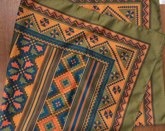 Italian geometric scarf