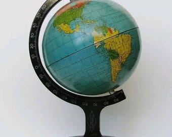 Vintage Miniature Tin Globe