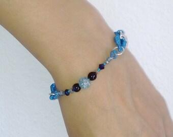 The 'evening sea' chain bracelet