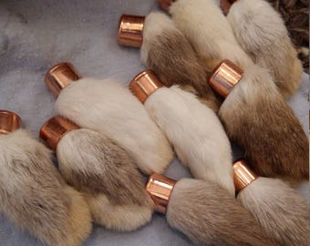 Preserved Rabbits foot white or white/grey