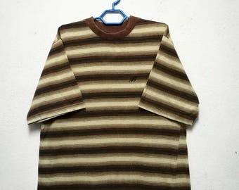 Vintage Freshjive Fresh Jive Brand Striped Stripe Made in USA T-shirt
