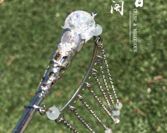 Sparking Crystal Beads Step shake Hairsticks