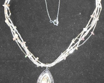 Necklace - Silver Mother of Pearl Pendant
