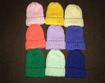 Knit Baby Hat, Knitted Hat, Newborn Hat