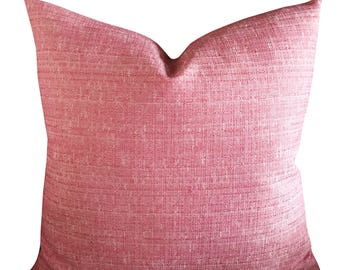 "22"" x 22"" Pink Stitched Decorative Pillow Cover - Eastern Accents Pink Pillow Cover"