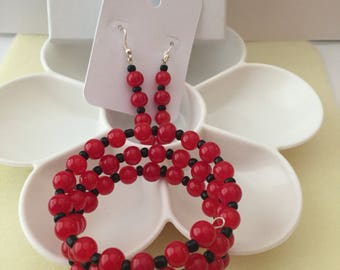Red and black Memory wire set