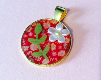 Handmade ONE OF A KIND: Floral Resin Pendant