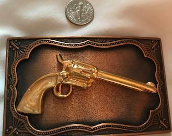 Colt Revolver Vintage Belt Buckle