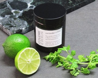 Coriander x lime soy wax scented candle