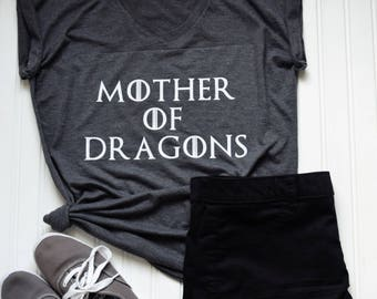 Mother of Dragons | Women's Triblend Shirt | GOT | Game of Thrones | Mom of Dragons | Women's Top