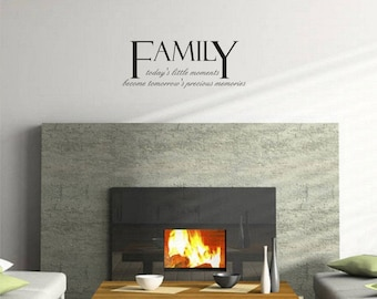 Family Wall Sticker Decal Living room Inspirational Quote Wall Sticker Decal