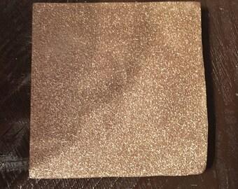 Gold glitter coaster-glitter-home decor