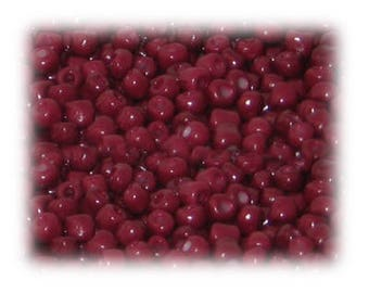 6/0 Rose Red Opaque Glass Seed Beads, 1 oz. bag