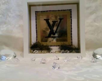 LV inspired Gold frame