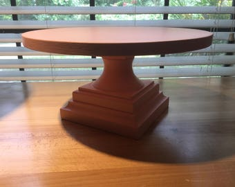 "Pink Painted 14"" Cake Stand. (Light pink)"