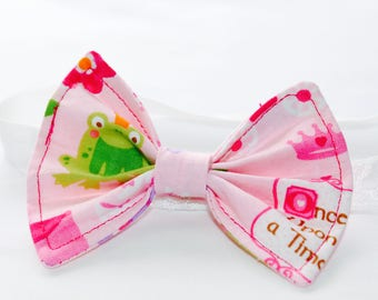 Princess and Fairytail hair bow with matching headband.