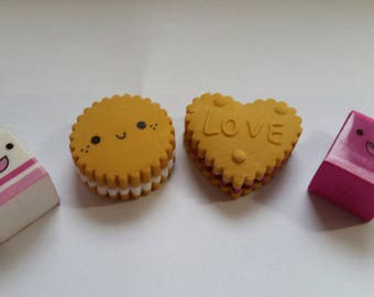 Milk and Cookies Erasers Set of Four