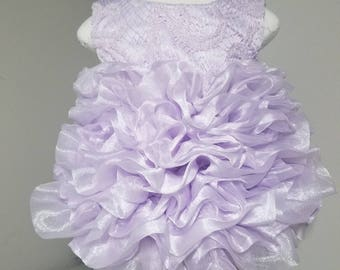 Ruffle Cake Dress with Shoes