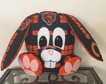 Chicago Bears Handmade Stuffed Bunny