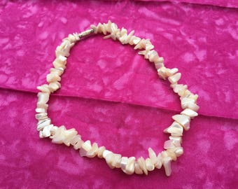 Mother of Pearl Necklace with Screw-on Clasp