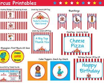 Carnival Theme Printables