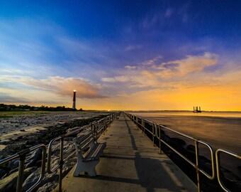 Barnegat lighthouse, Jersey Shore.