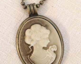 Antique Gold Cameo Necklace