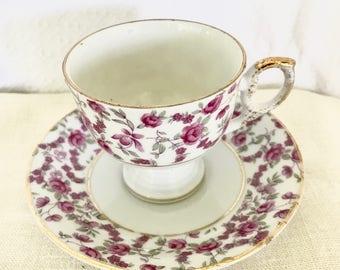 Napco Japan Pink Floral Teacup