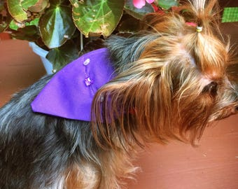 Blingy Purple Bandana Small
