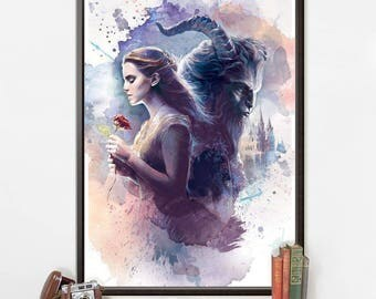 Beauty and the Beast Poster/Disney Print/Beauty and the Beast Print 045/Canvas Print/Digital Print/Film Print/PVC Print/Disney Poster