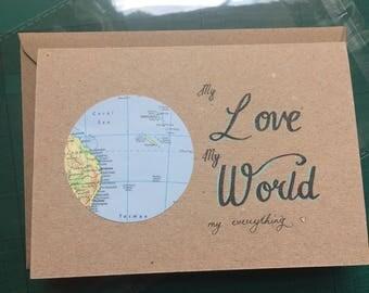 My Love, My World, My Everything Card