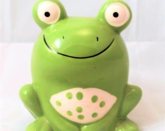 Small Green Frog Bank