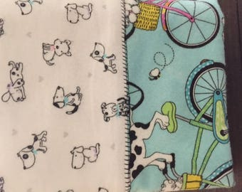 Dogs on Bicycle Fabric