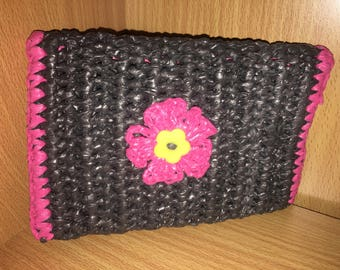 Small Clutch Style- Plarn Bag- Crochet Bag-Recycled Plastic bags