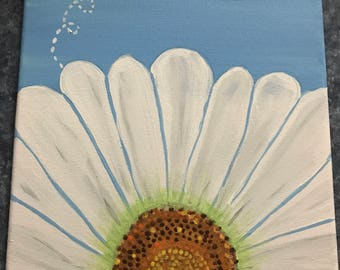 Happy Bees hand painted canvas