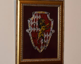Lion Crest Made of Aluminum 18'' 20''