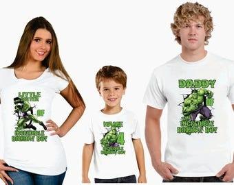 hulk family Birthday t-shirts, Personalized hulk family birthday shirt, birthday boy beast hulk shirt