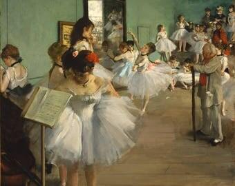 Dance class Edgar degas, giclee print on canvas.