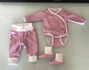 NEW set Gr. 44-98 bloomers body booties rompers pajamas