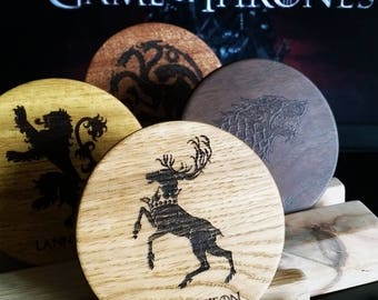 Game of Thrones coaster GoT coaster wood coaster