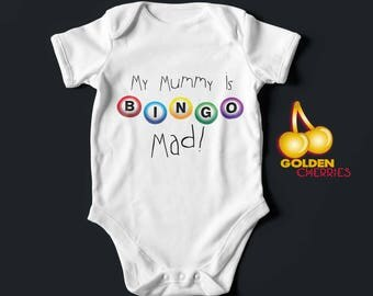 Bingo Bodysuit Onesie Mommy , Mummy or Grandma / Romper / Bodysuit/ T-shirt Gift Idea