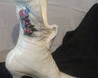 Vintage Victorian Boot Planter
