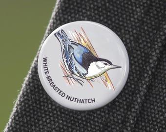 Nuthatch Bird Pin